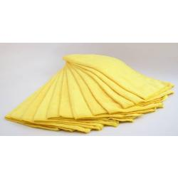 Yellow Plush Microfiber Detail Towel (12 Pack)